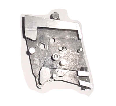 Ed Yost Single Shot Schuetzen Rifle cut-away breech block