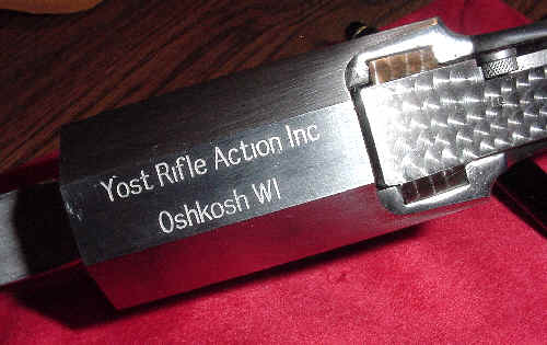 Polished Ed Yost single shot rifle action