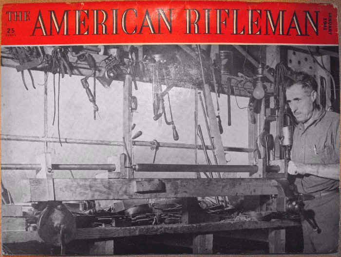 William ( Bill ) Staege on the cover of the American Rifleman magazine
